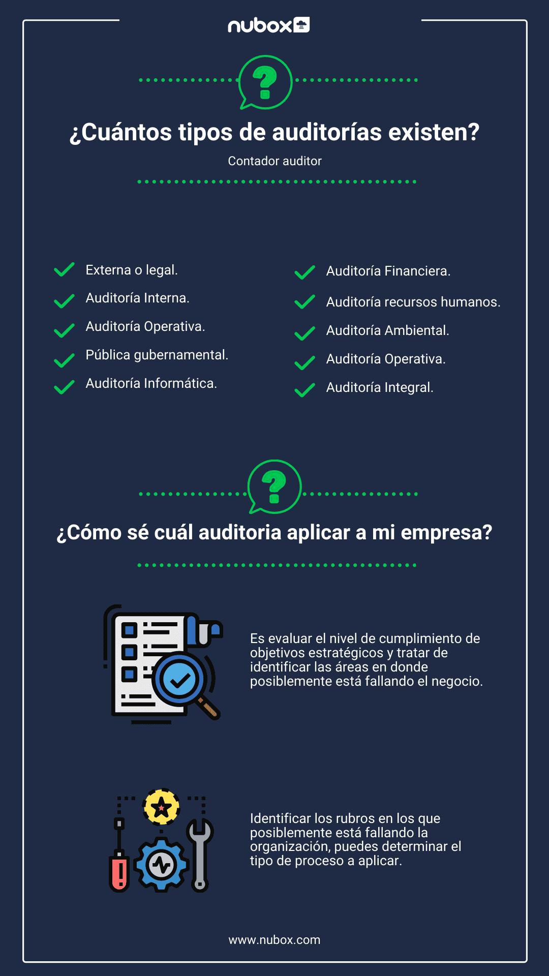 ¿cuántos tipos de auditorías existen