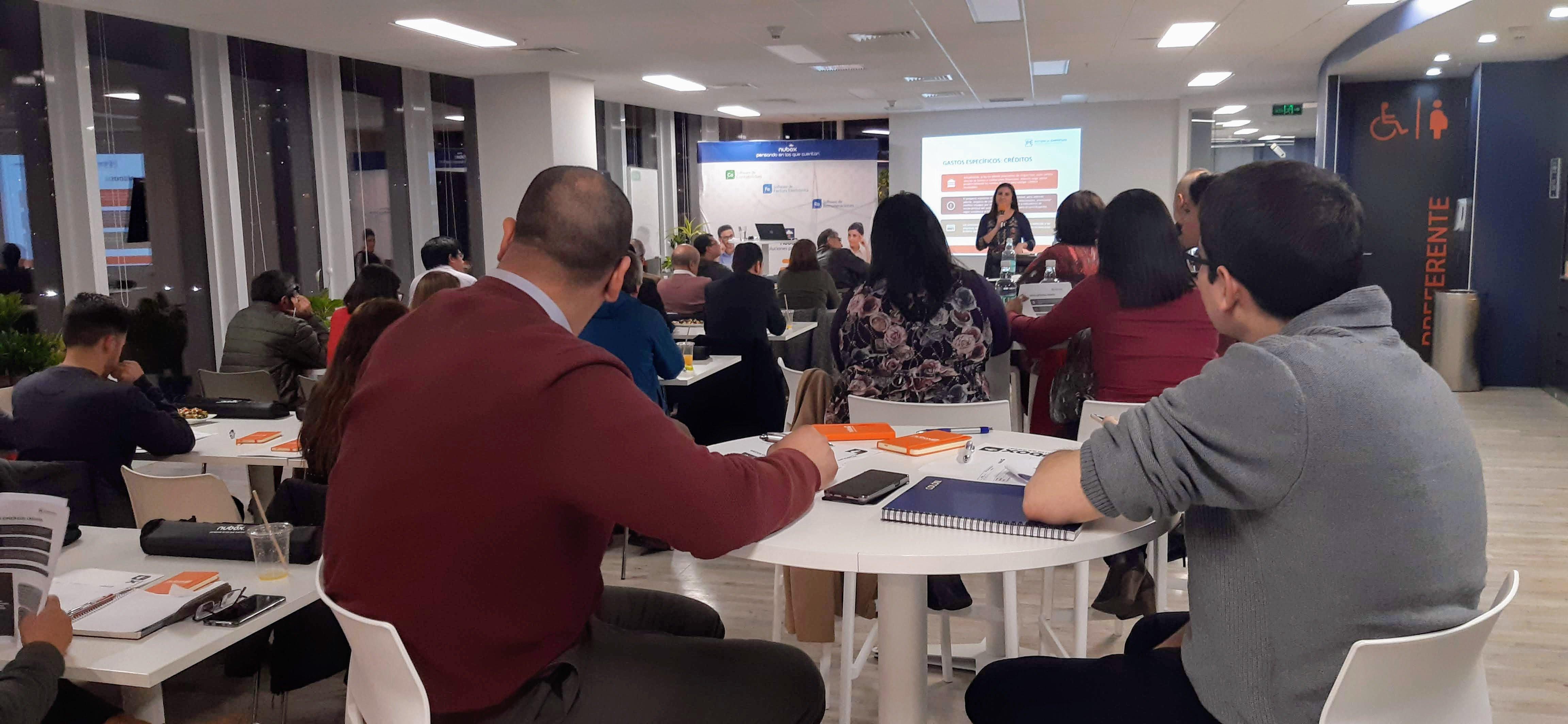 Nubox dictó taller sobre Modernización Tributaria