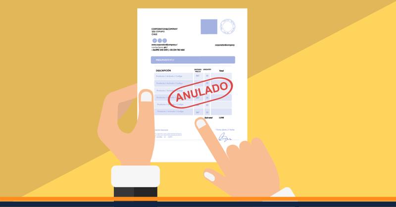 ¿Cómo anular una factura electrónica?