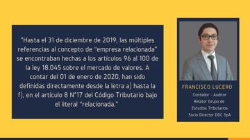 """Empresas relacionadas: Análisis de """"Controlador y Controlada"""" (Art.8 N°17 letra a)"""