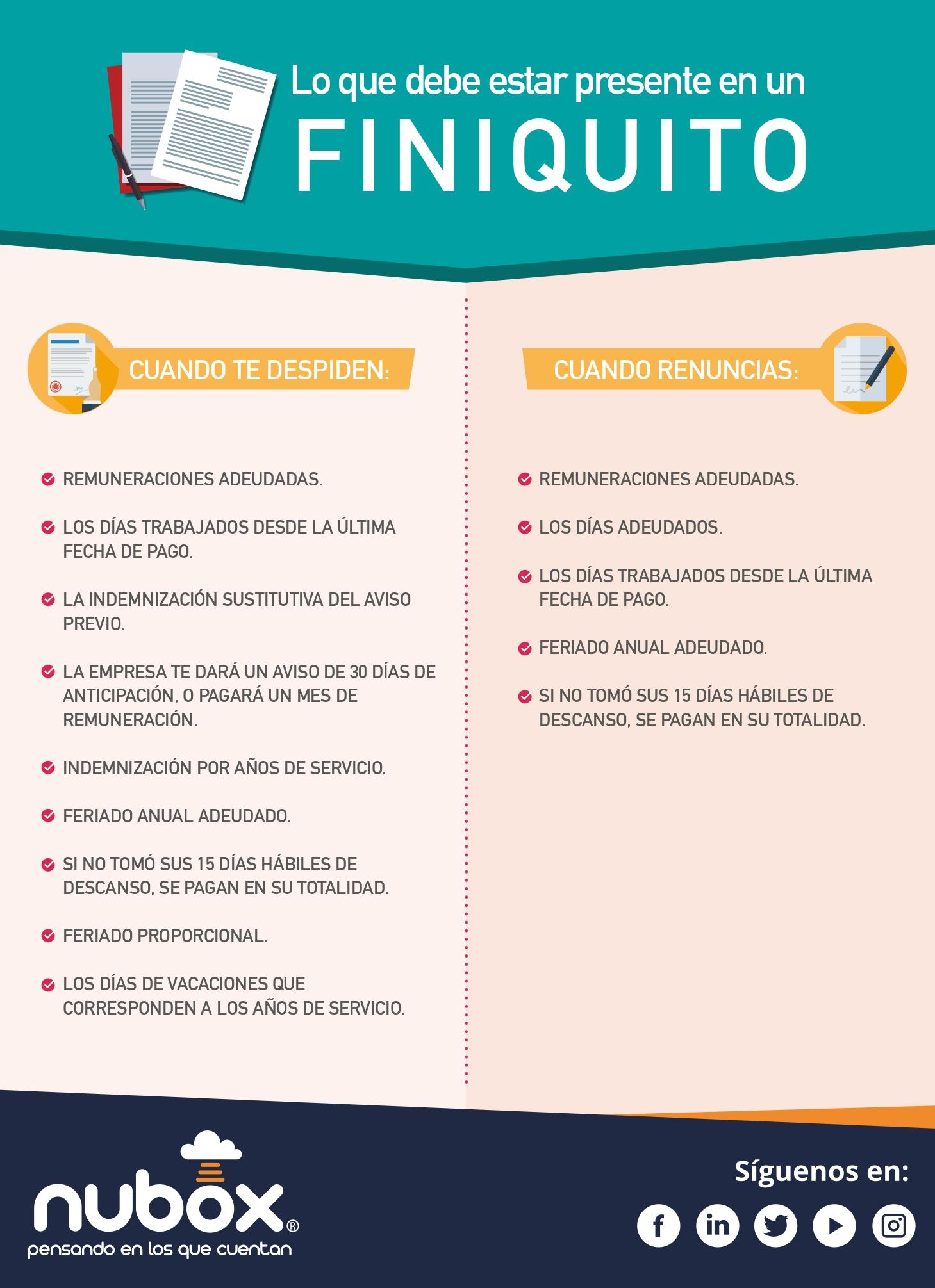 Infografía - finiquito Chile