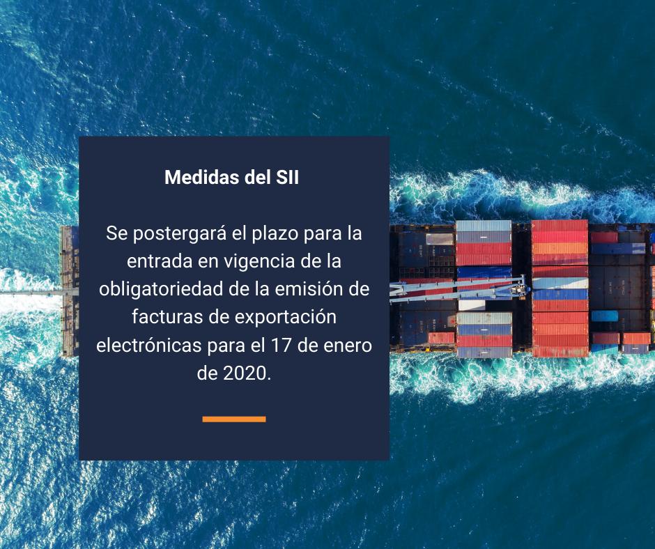 Postergación de la obligación de factura electrónica a operadores de exportación