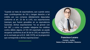Operatoria en la devolución del IVA Exportador