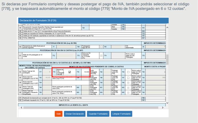 Postergación Pago de IVA