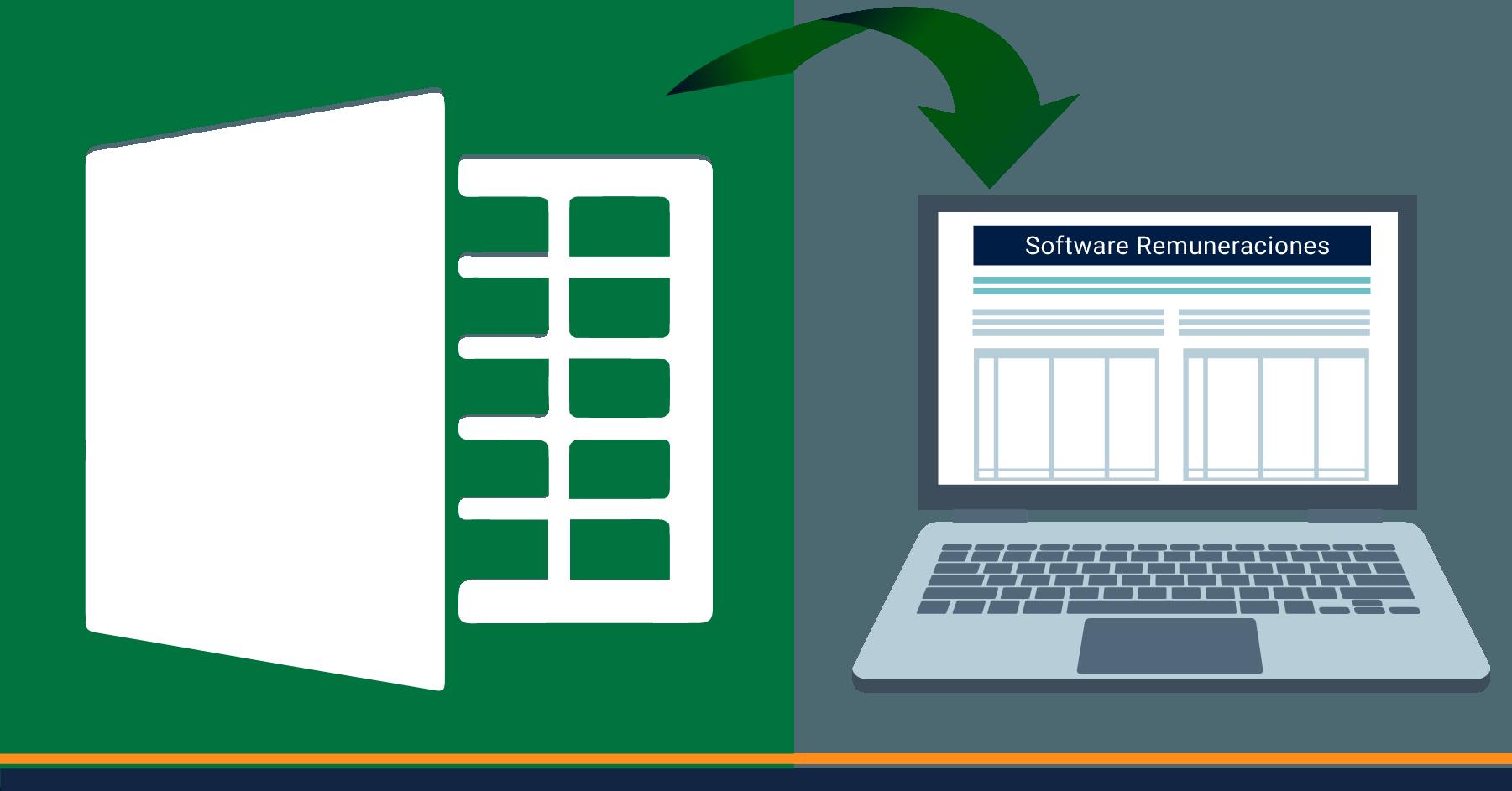 ¿Cómo pasar de Excel a un sistema de remuneraciones?