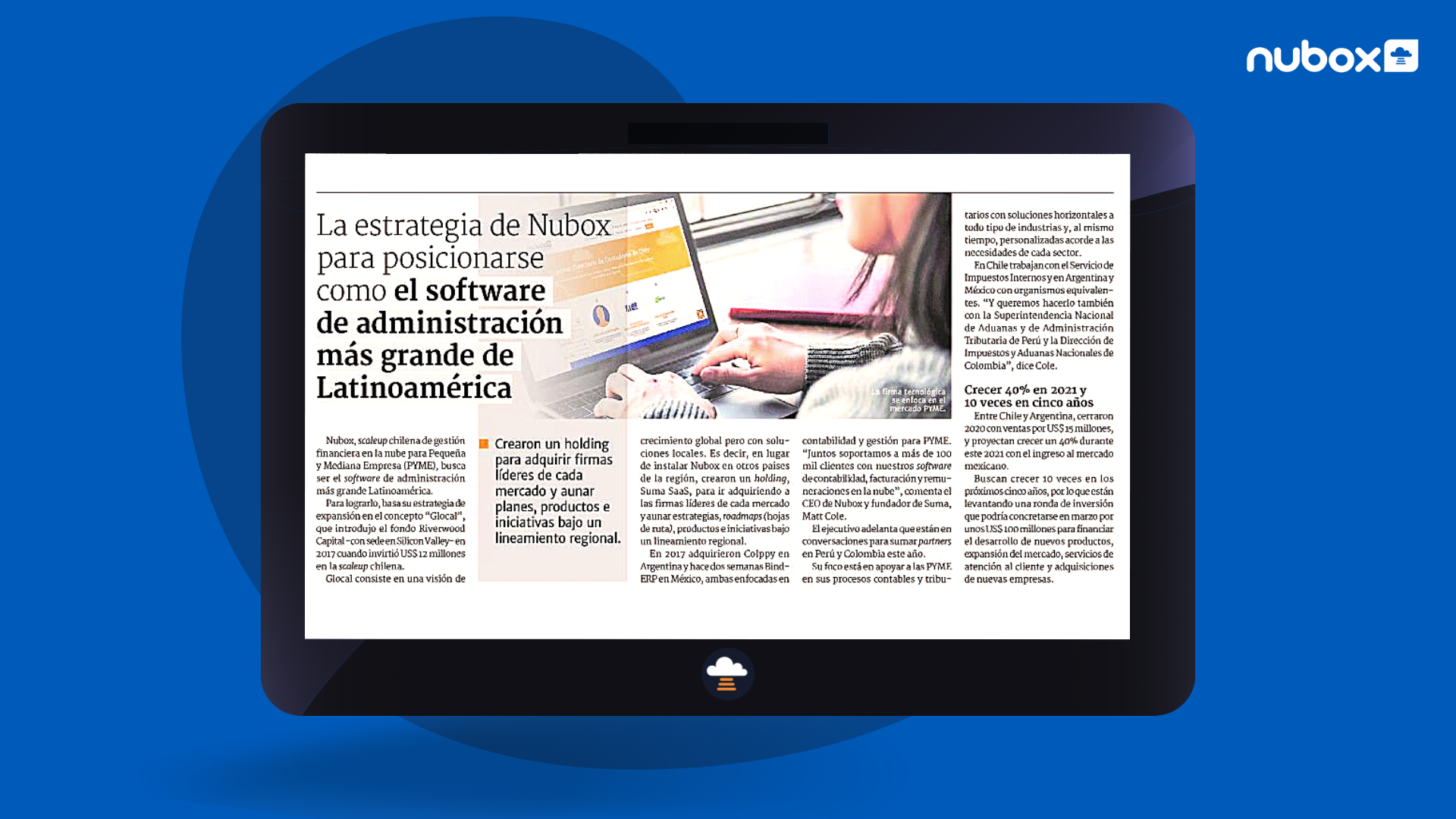 Nubox en Diario Financiero