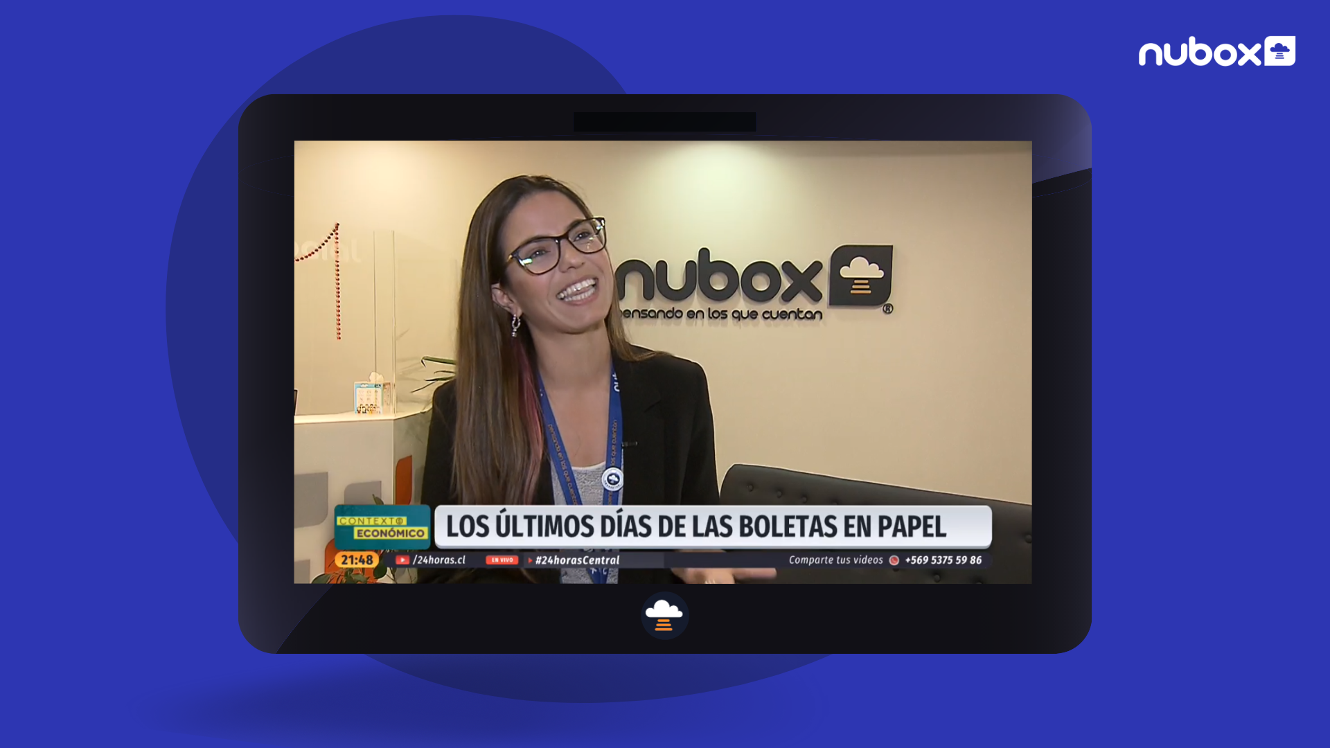 Martina Jaramillo de Nubox en TVN