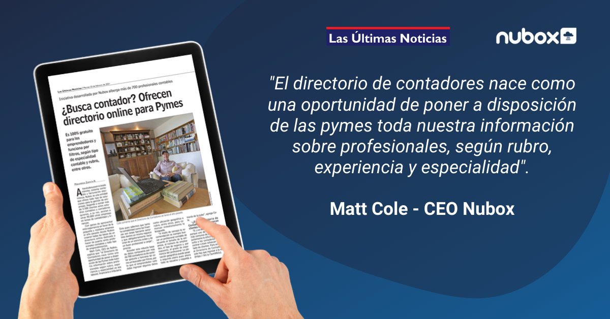 Matt Cole en LUN - Nubox