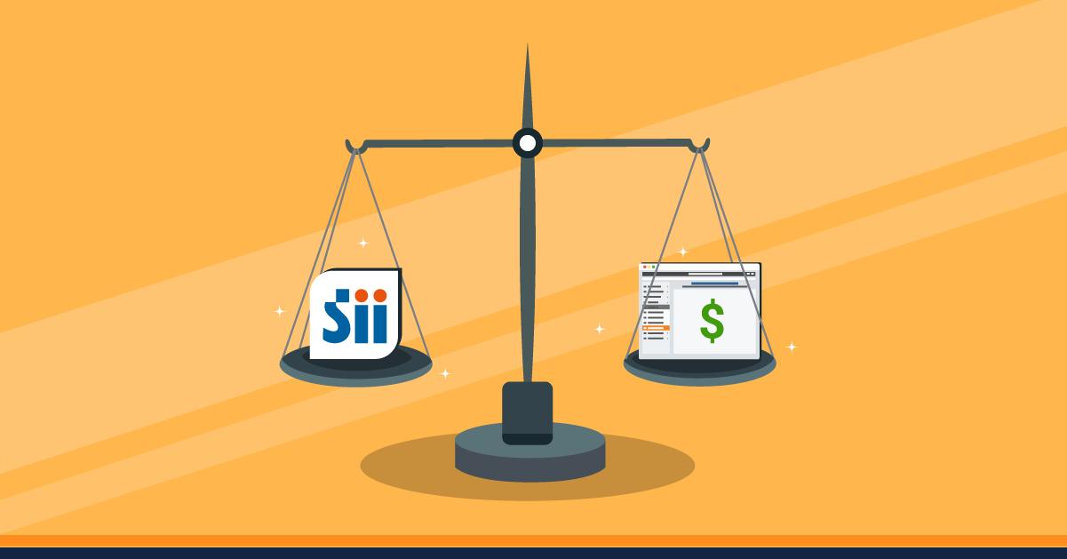 Diferencias entre sistema de facturación del SII y el pagado